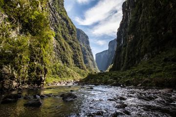 Ox River, at Canion Itaimbezinho - Aparados da Serra National Pa