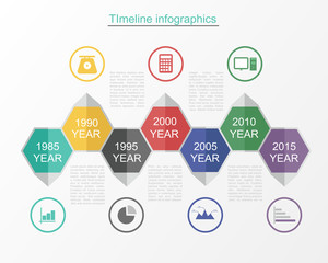Timeline infographic business template v