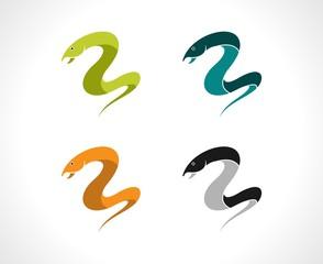 simple snake vector logo