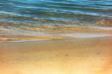 blurred water background summer beach