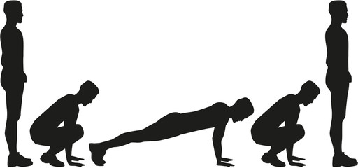 Burpees silhouette