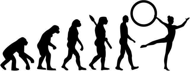 Gymnastics evolution with hoop