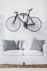 Bicycle and couch