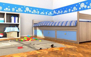 children's room and toys