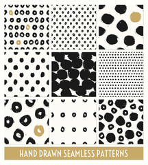 Wall Mural - Hand Painted Seamless Patterns Collection