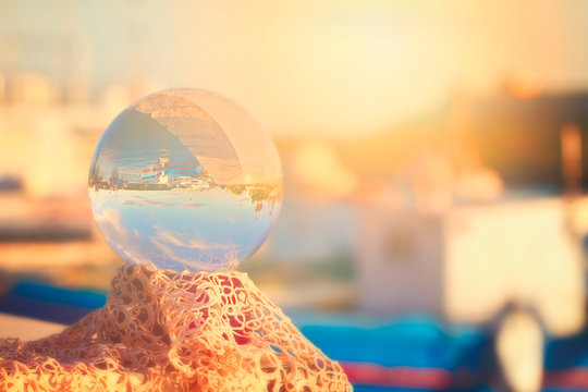 Ognina seen from a Glass Sphere - Syracuse bis
