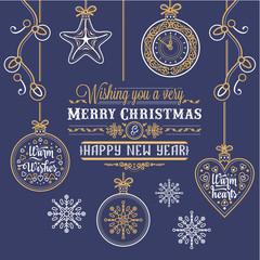Merry Christmas. Christmas card. Christmas greeting. Happy holidays. Winter holiday.