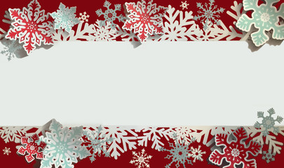 christmas snow flakes frame