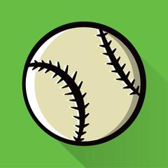 Single Baseball Icon Illustration