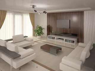 Modern cozy and comfortable seating .