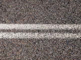 Australian outback road markings.