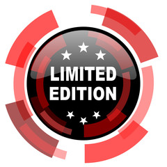 limited edition red modern web icon