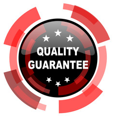 quality guarantee red modern web icon