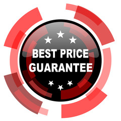 best price guarantee red modern web icon