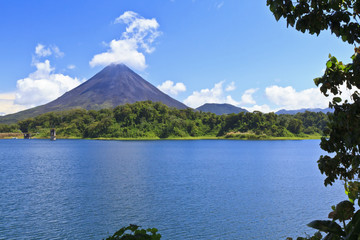Arenal Volcano and Lake Vignette