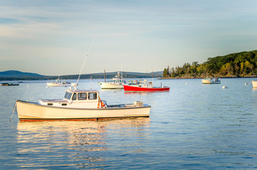 Fishing Boats at Dusk, Bar Harbor, Maine