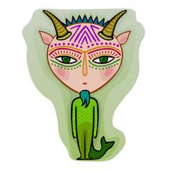 capricorn - decorative zodiac sign