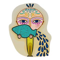 aquarius - decorative zodiac sign