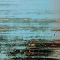 Old abstract grunge background, aged retro texture. With different color patterns: brown; blue; cyan; black