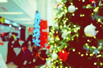 Blur and Bokeh Greeting Season Vintage and retro Tone