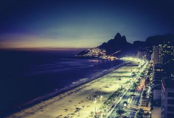 Sunset over Ipanema Beach in Rio de Janeiro