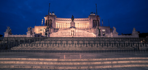 Wall Mural - Rome, Italy: Vittoriano, Victor Emmanuel II Monument at night