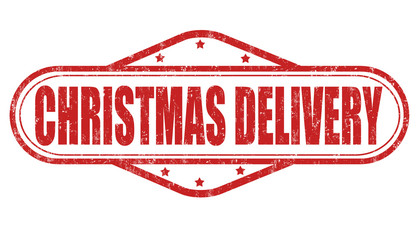 Christmas delivery stamp