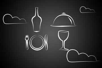 Modern food art illustration