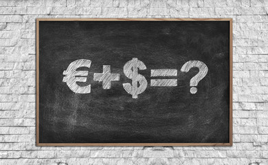 chalk board with drawing money formula