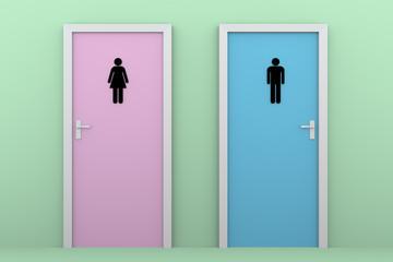 toilet doors color