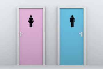 toilet doors for boys and girls
