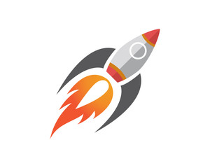 Rocket launch logo