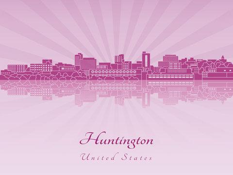 Huntington skyline in purple radiant orchid