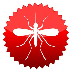 Red sun sign mosquito