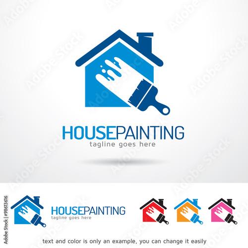 quothouse painting logo template design vectorquot immagini e