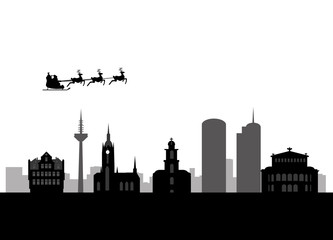 santa flying frankfurt