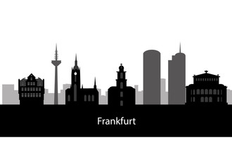 frankfurt city skyline in Germany