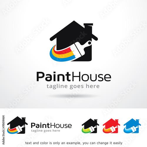 quotpaint house logo template design vectorquotfotoliacom �