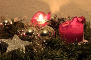 Adventszeit Kerzenlicht