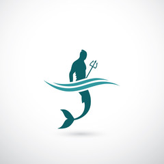 Male mermaid symbol