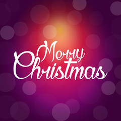 Merry Christmas poster with bokeh pattern in Red tone