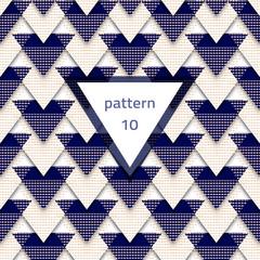 Pattern-triangle-blue-white