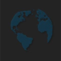 planète bleu,planisphère