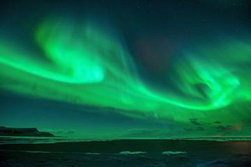Northern lights, Jokulsarlon lagoon, Iceland