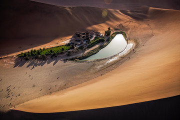 Crescent Lake, Dunhuang City, Gansu, China