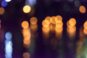 Blur colorful abstract light bokeh background is beautiful.