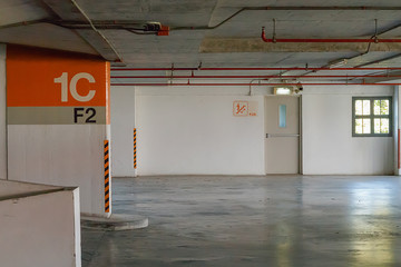 Fire exit in car parking