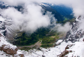 View of Obwalden from Mount Titlis, Switzerland