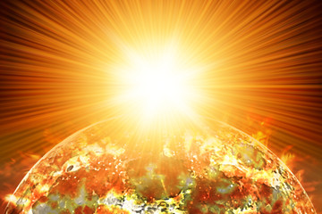Nuclear Blast on Planet