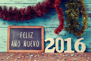 text feliz ano nuevo 2016, happy new year 2016 in spanish